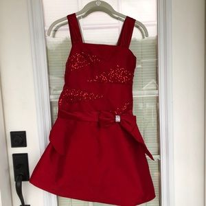 My Michelle Girls Red Sparkle Christmas Dress 10